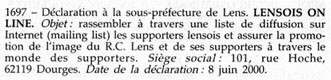 La déclaration au Journal Officiel